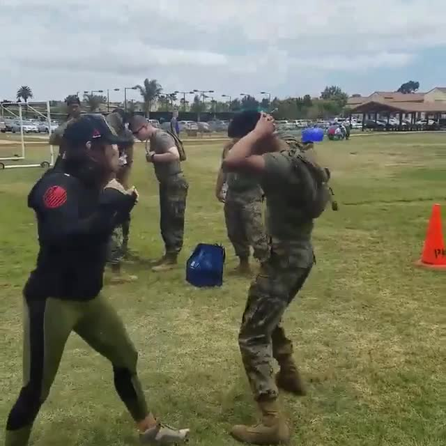 Watch Cat Zingano Make Grown Soldiers Cry During New Trip To Base