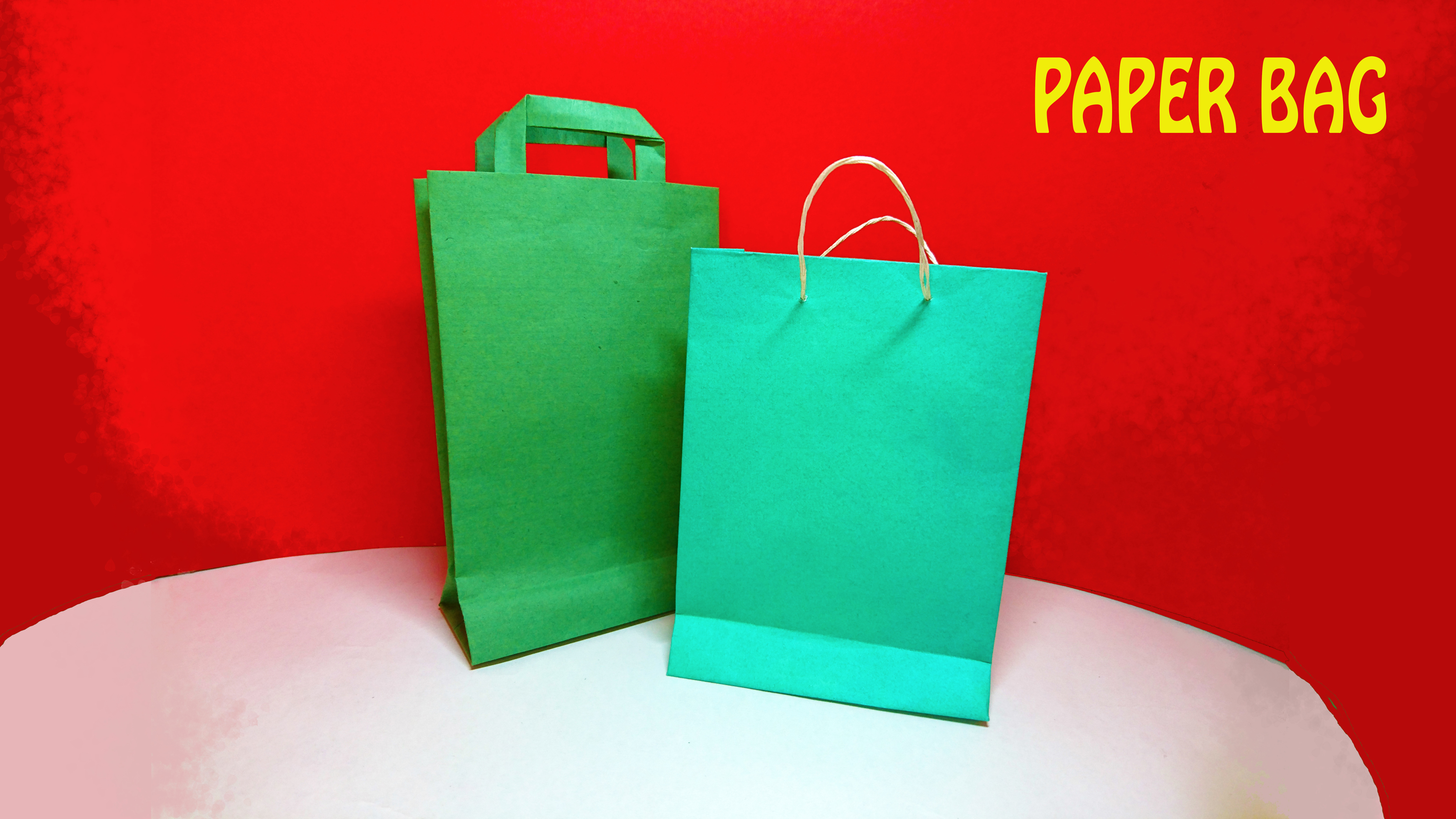 Paper Carry Bag Say No To Plastic Eco Friendly Bags Origami Tutorial Hideouttv
