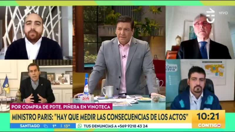 Julio César encaró a Felipe Alessandri por defender a Piñera - En ...