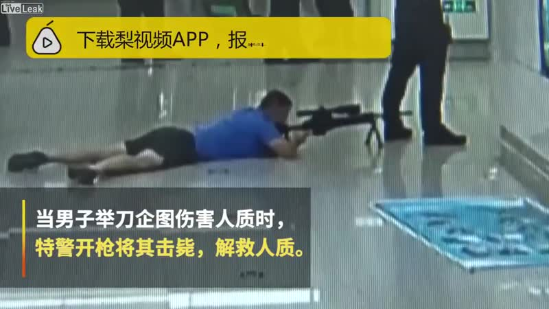 Police Sniper Shoots Man With Hostage From Between The Legs