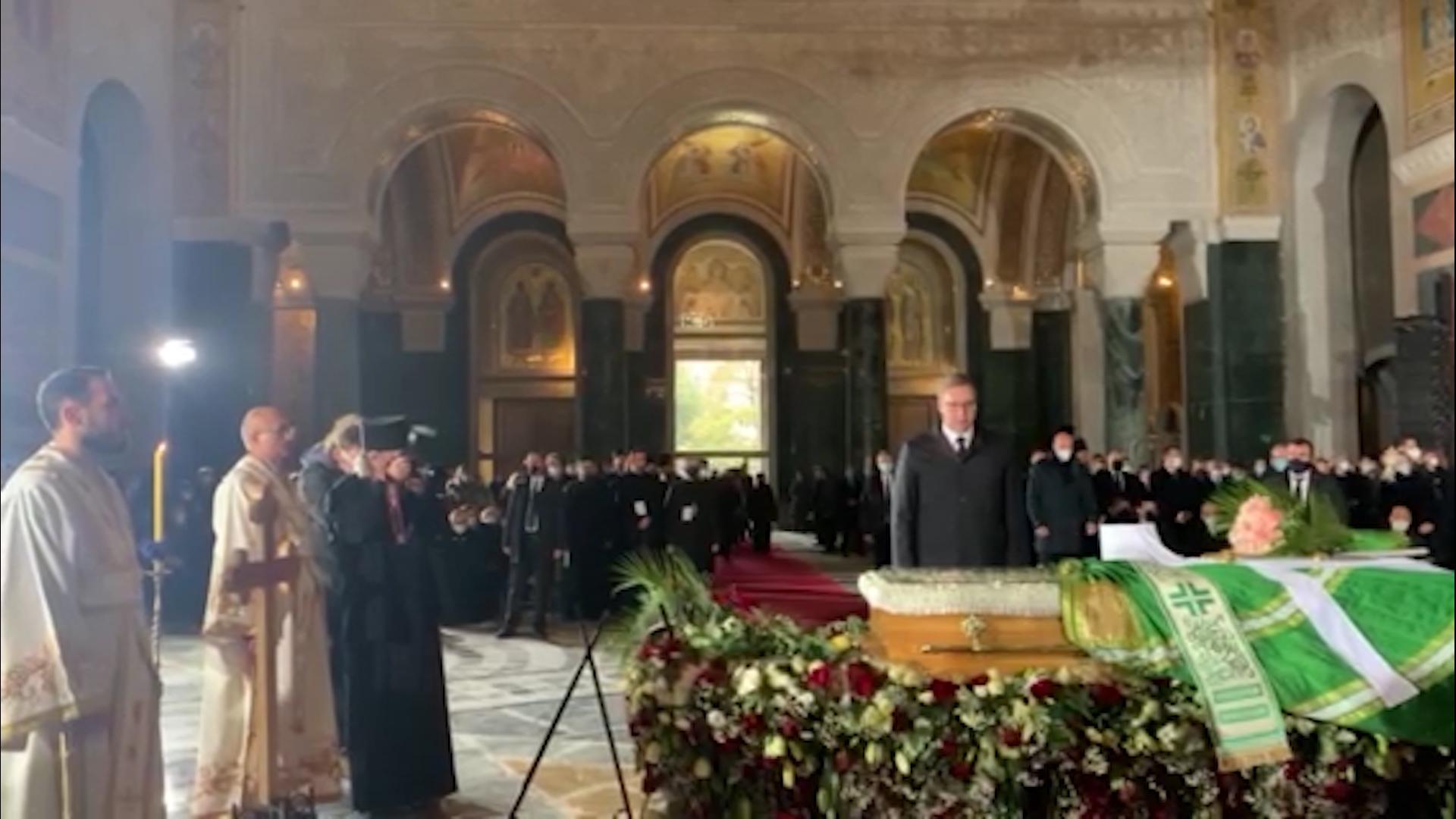 Dolazak Aleksandra Vučića i Milorada Dodika na sahranu patrijarha