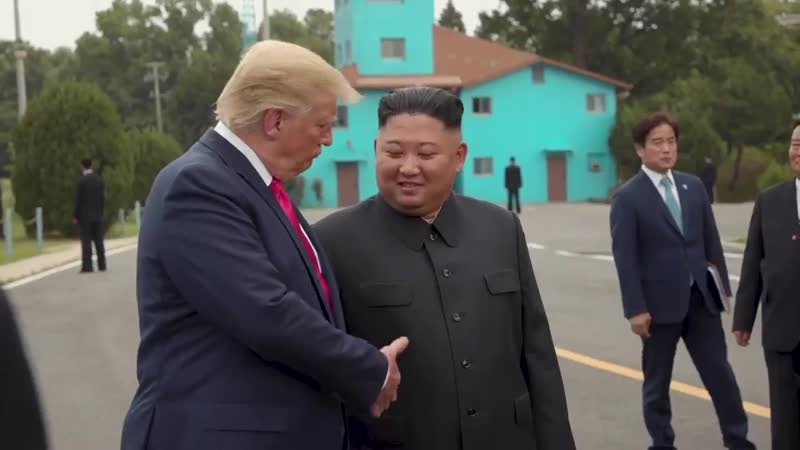 First Sitting President To Visit >> Historic Trump Meets Kim At Dmz Becomes First Sitting U S