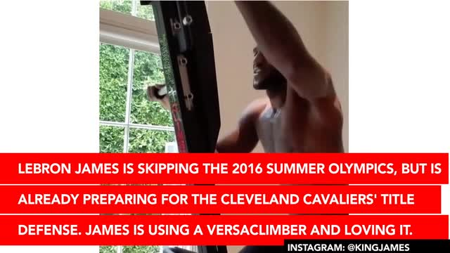 145801b01f3 LeBron James Has a Brand New Workout Toy  The VersaClimber
