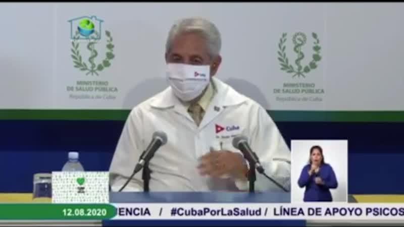 Dr. Francisco Duran Garcia, Kubas Chefepidemiologe, bei der heutigen Pressekonferenz | Bildquelle: https://youtu.be/gsefyEANBvU © MINSAP /YouTube | Bilder sind in der Regel urheberrechtlich geschützt